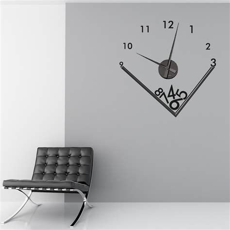 sticker wall clock falling numbers wall sticker clock wall chimp uk
