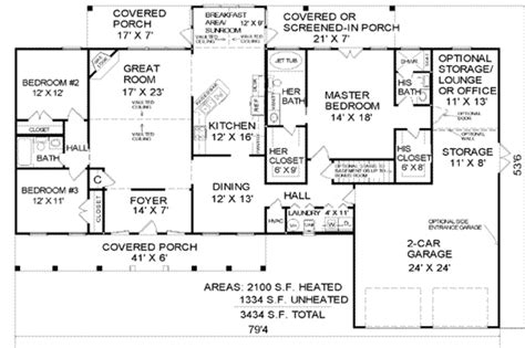 Large Farmhouse Floor Plans country style house plan 3 beds 3 baths 2100 sq ft plan