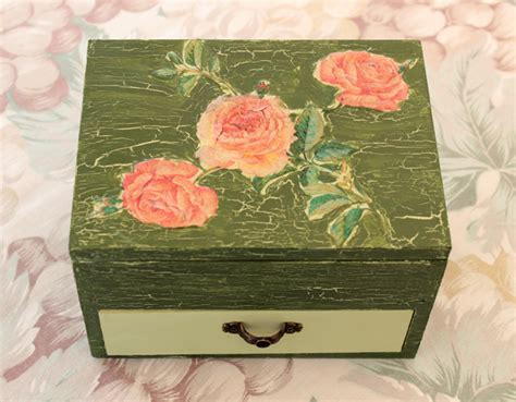 can you use any paper for decoupage diy project shabby chic decoupage storage box