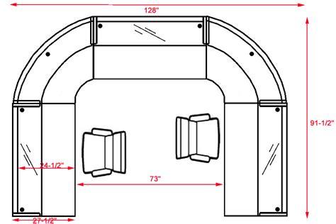glass u shaped desk u shaped 2 person glass top reception desk