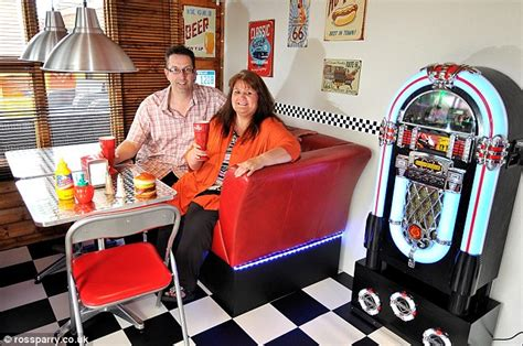 Ideas For Kitchen Diners scarborough couple create their own 1950s american diner