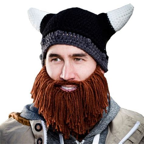 knit hat with beard beard heads barbarian looter knit hat bh1002
