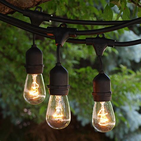 exterior string lights commercial string lights indoor and outdoor commercial string