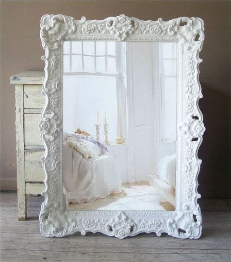 b a r o q u e white mirror large shabby chic mirror