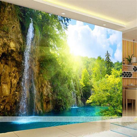3d tree wallpaper buy wholesale fiber waterfall from china fiber