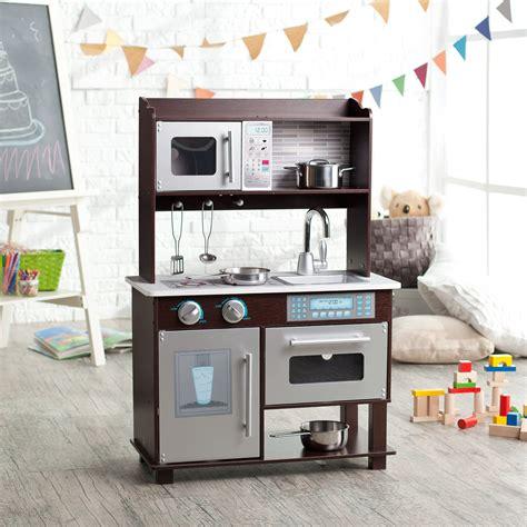 kid craft play kitchen kidkraft espresso toddler play kitchen with metal