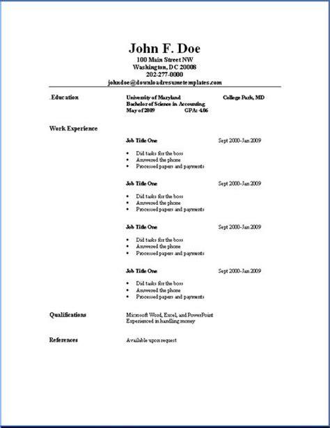 resume exaples 25 unique simple resume template ideas on pinterest