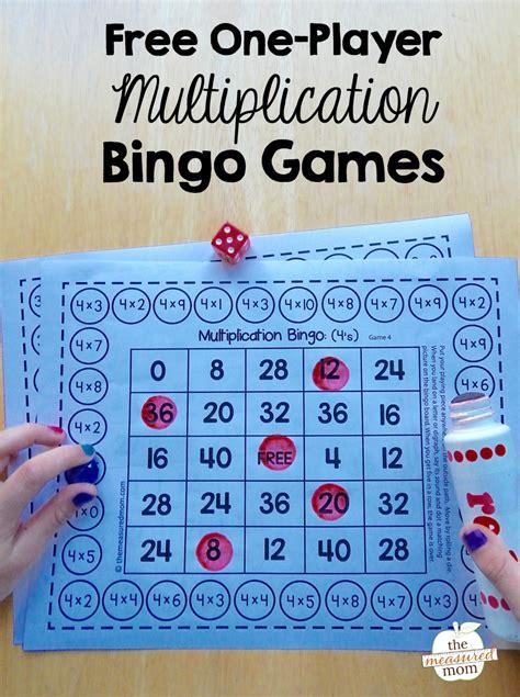 free single player free single player multiplication bingo the