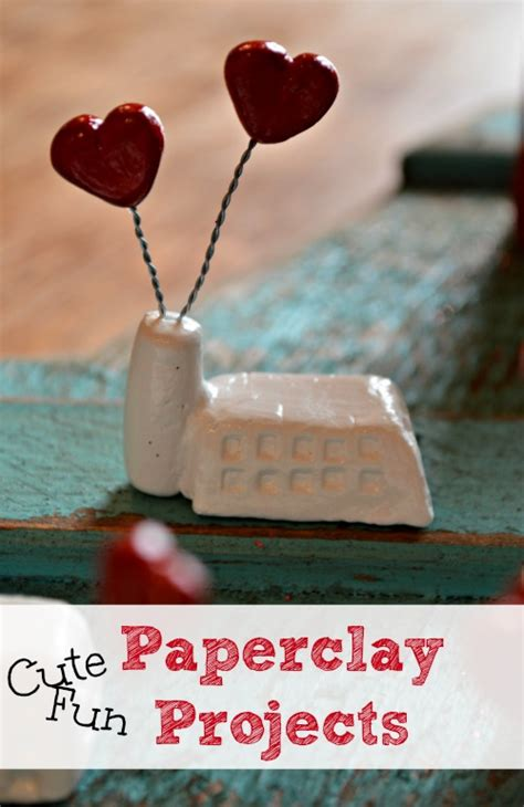 paper clay crafts paperclay projects salt lessons