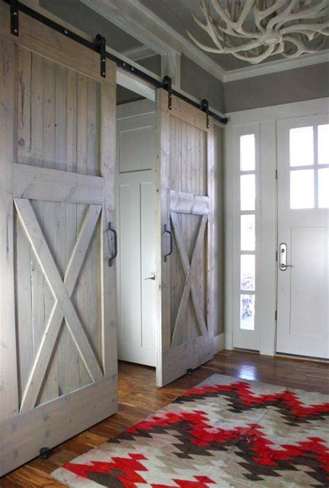 barn doors for interior use sliding barn doors used inside content in a cottage