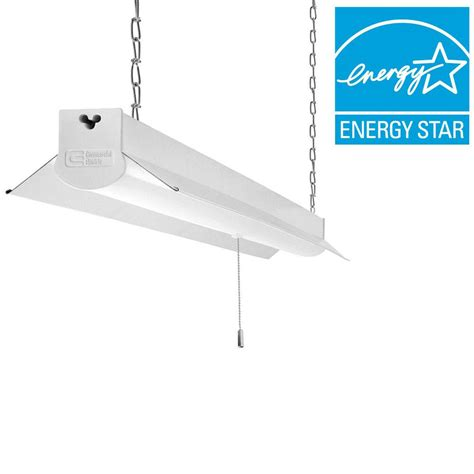 commercial led light fixtures commercial electric 4 ft bright cool white integrated led