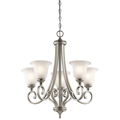 brushed steel chandelier modern brushed nickel steel chandelier gt 244 00 satin