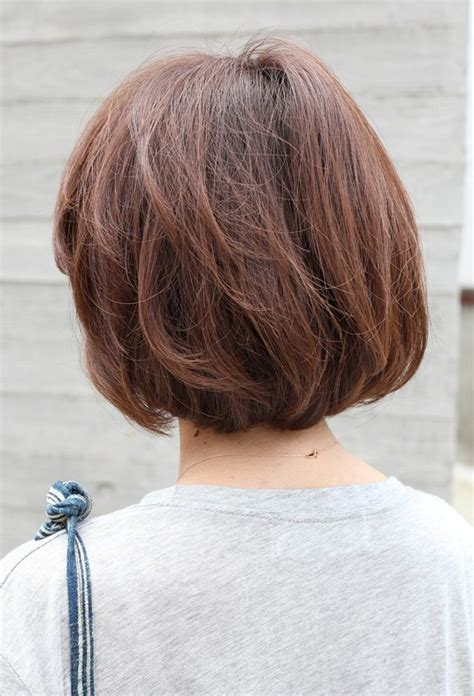 views of back of medium hairstyles back view short brown bob hairstyle hairstyles weekly
