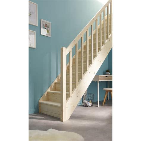 escalier droit deva structure bois marche bois leroy merlin