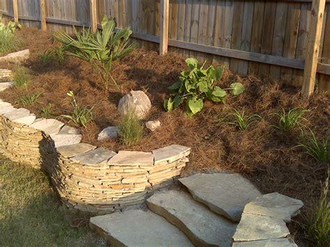 garden wall stones flagstone landscape garden wall