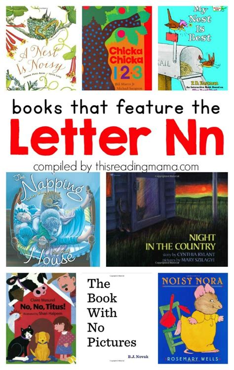 abc picture books learning the alphabet letter n printable pack this