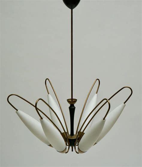 opaline chandelier italian brass and opaline glass chandelier for sale at 1stdibs