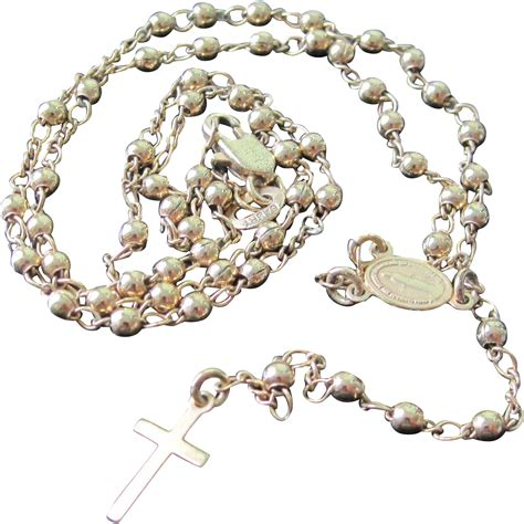 sacred rosary vintage gold tone rosary with sacred medallion and
