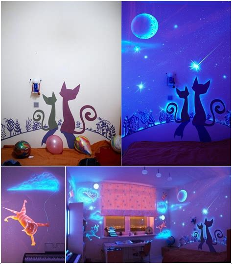 glow in the painting room glow in the paint and decals for your child s room