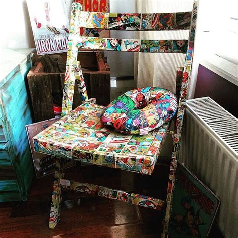 decoupage with pva marvel superheroes decoupage upcycle chair using