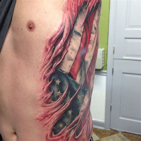 ripped skin tattoos torn skin tattoos 3d tattoos