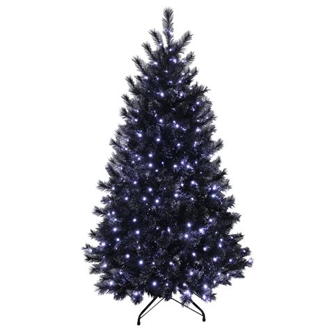 7ft white tree 7ft artificial tree black with glitter tips