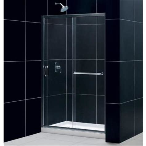 home depot shower doors sliding dreamline infinity z 44 to 48 in x 72 in framed sliding