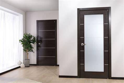 floor in modern door in an apartment with a light floor