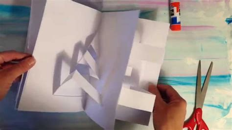 how to make a pop up i you card how to make a pop up book