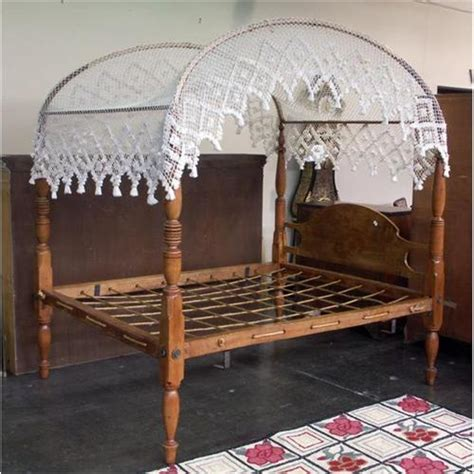 bed canopy cover colonial style pine rope canopy bed knotted cover