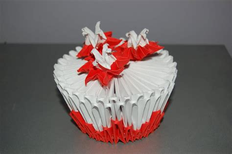 3d origami cake 3d origami cupcake by origami on deviantart