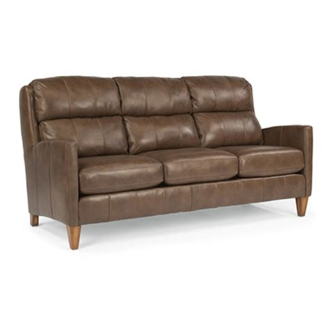 flexsteel leather sofas flexsteel b3667 31 reed leather sofa discount furniture at hickory park furniture galleries
