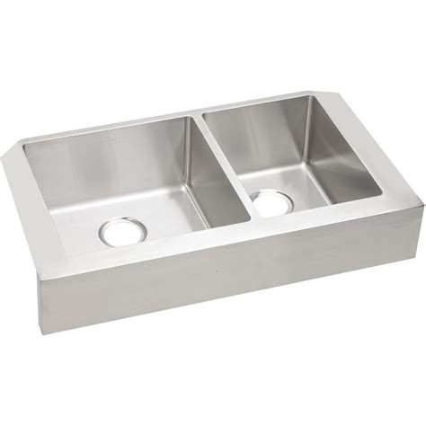 stainless steel apron front kitchen sink elkay crosstown farmhouse apron front stainless steel 32