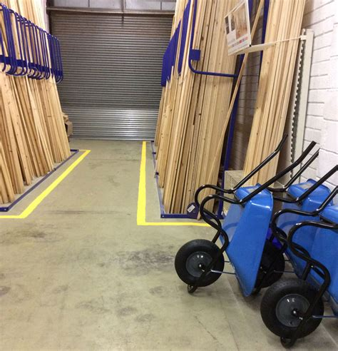 Warehouse Of Floor L by Specialist Line Marking Services Factory Line Marking