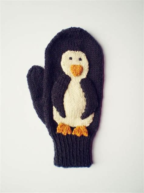 knitting pattern for penguin diy penguin mittens free knitting pattern tutorial