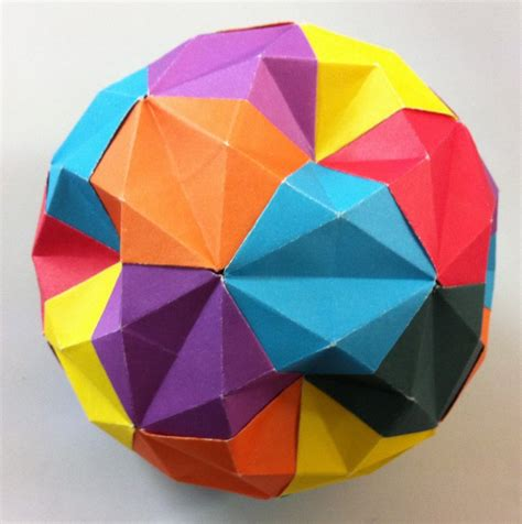 origami sphere t fuse setting the crease