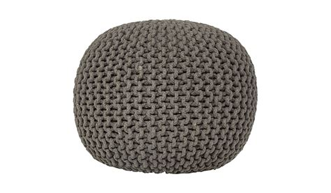 asda knitted pouffe george home charcoal knitted pouffe footstools pouffes