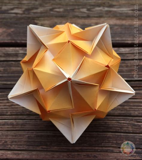 measurements of origami paper tributary kusudama tutorial origami tutorials