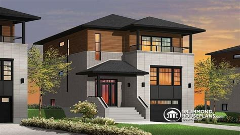 homes for narrow lots narrow lot homes with porches contemporary narrow lot house plans modern house plans for narrow