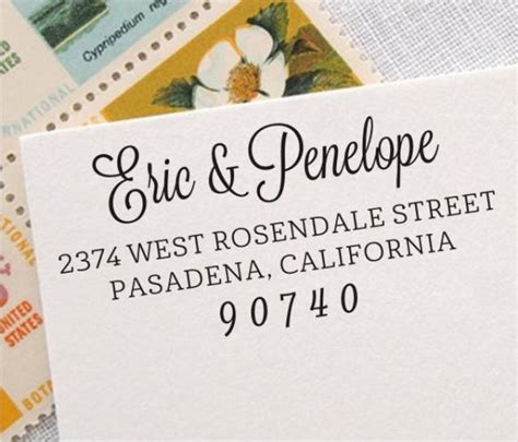 custom rubber st wedding return address st personalized address st self