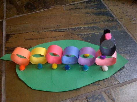 easy arts and crafts for with construction paper construction paper craft caterpillar