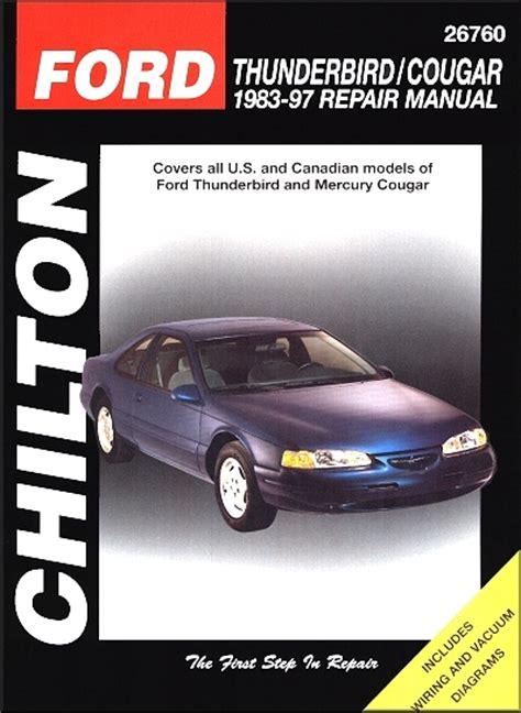 how to download repair manuals 1994 mercury cougar interior lighting ford thunderbird mercury cougar repair manual 1983 1997