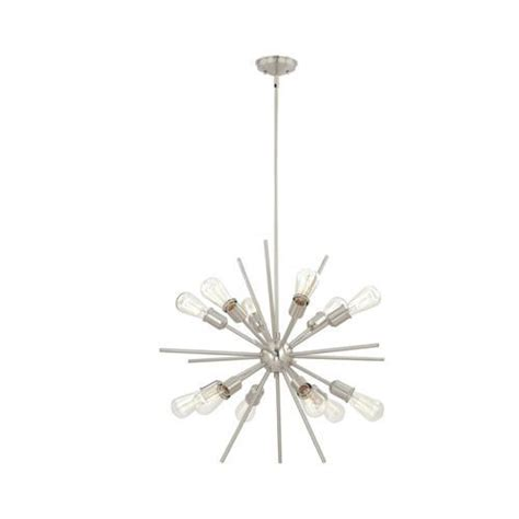 style selections 18 light brushed nickel chandelier purchased the dinette oscar 12 light 27 5 satin