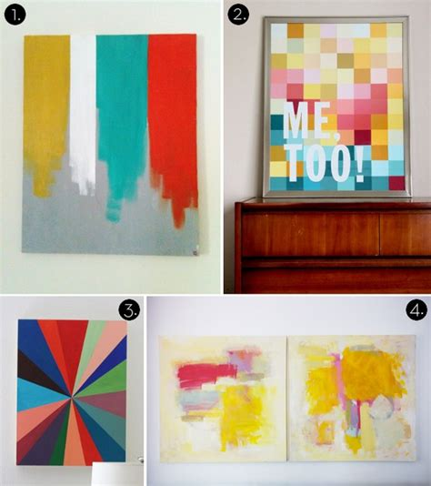 modern craft projects roundup 10 more affordable diy modern wall projects