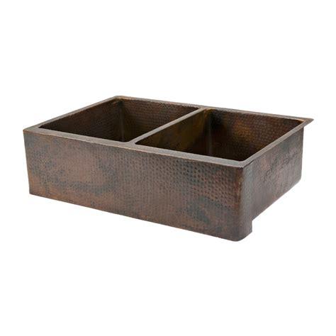 rubbed bronze kitchen sink shop premier copper products rubbed bronze sink