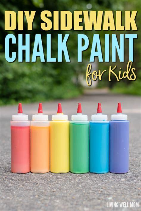 diy chalk paint español diy sidewalk chalk paint for in less than 5 minutes