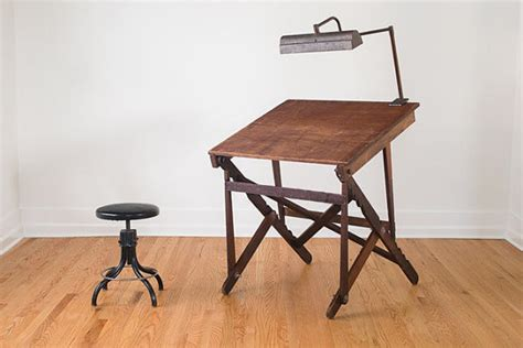 foldable drafting table keuffel and esser co new york industrial folding drafting