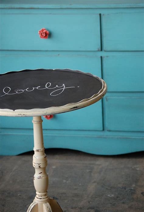 chalkboard paint table side table with chalkboard paint the style files