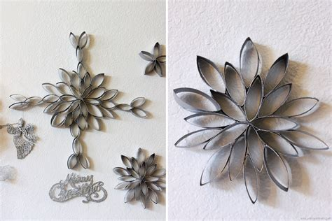 crafts out of paper towel rolls diy snowflakes out of toilet paper rolls by claudya