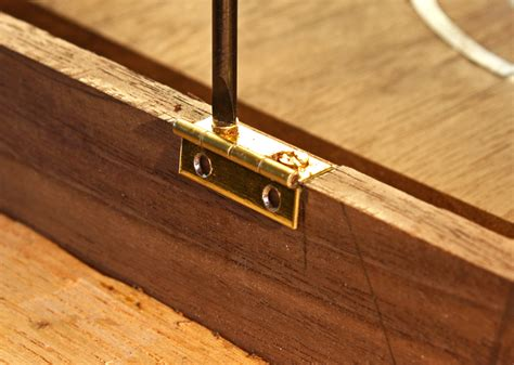 woodwork hinges working with small hinges popular woodworking magazine